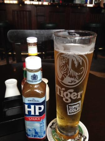Holiday Inn Express Bahrain: beer and HP sauce, a winning combo!