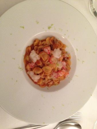 cucina cereda orecchiette in zuppa di pesce con gamberi rossi di sicilia