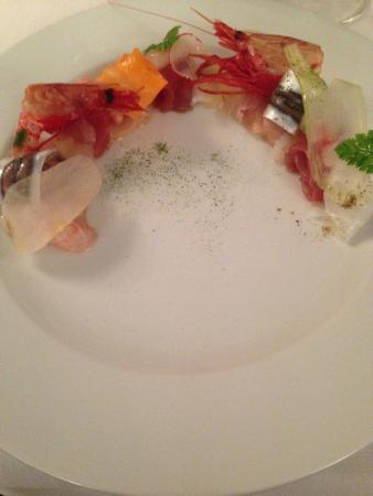cucina cereda crudo di pesce