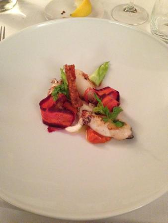 cucina cereda calamaretti con carote e burratina