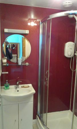 Cliff House Bed & Breakfast: Hand basin area and walk-in shower