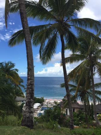 Cap Estate, เซนต์ลูเซีย: glimpse of the beach