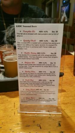 Kern River Brewing Company: Beer Menu