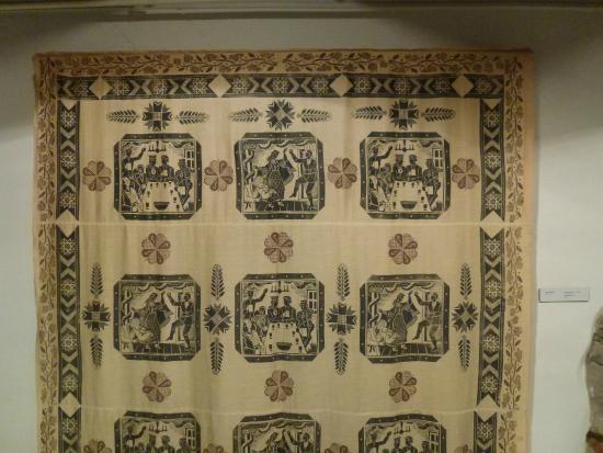 Museum of Decorative Art and Design: Bedrucktes Hochzeitsleinen, 1935