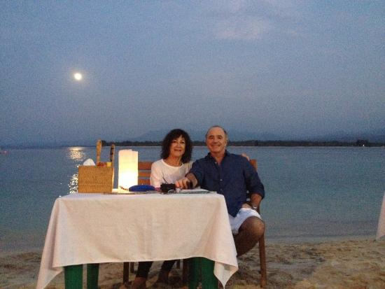 Gili Air Santay Restaurant: Romantique non?