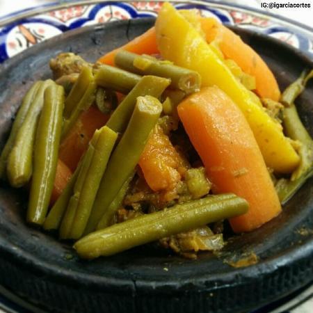 Restaurant Morisco: Tajin de pollo, segundo plato menú del día