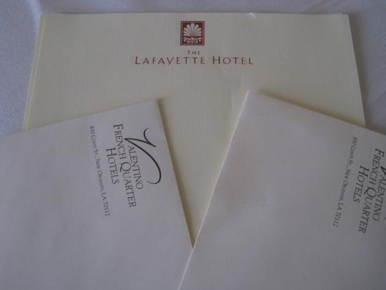 The Lafayette Hotel: Stationary MAR2014