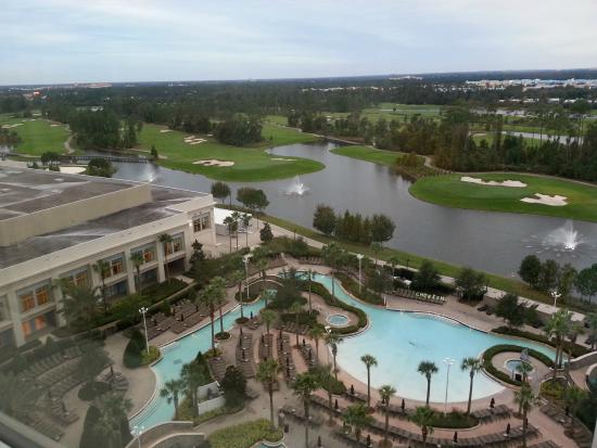 disney view from 15th floor picture of hilton orlando. Black Bedroom Furniture Sets. Home Design Ideas