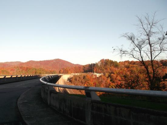 Fontana Lake: On The Dam