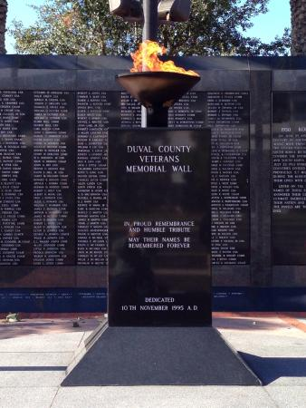 Veterans Memorial Wall: Flame