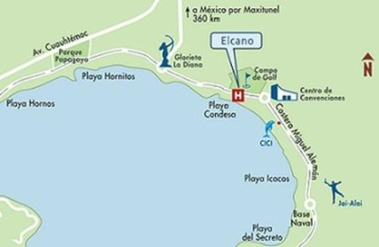 Map Picture of Elcano Hotel Acapulco TripAdvisor