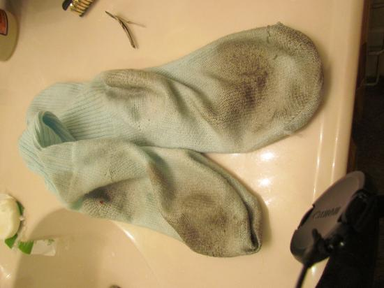 Sterling Reef: my socks after the 1st day walking in the tile floor