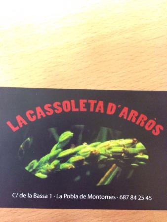 La Cassoleta d'Arròs: En La Pobla de Montornes