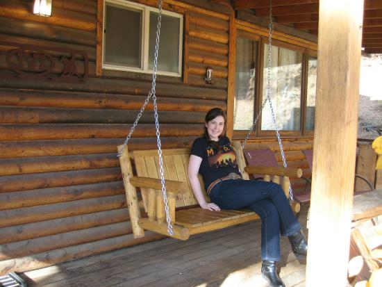 Lost Valley Ranch: Front porch swing