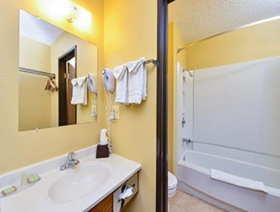 Super 8 Sun Prairie/Madison E: Bathroom