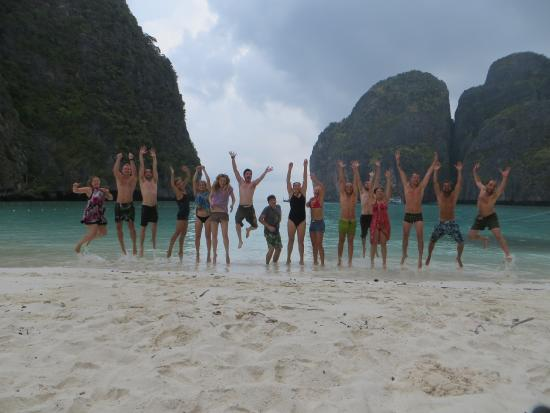 Sunset Cruise and Plankton Tour by Maya Bay Tours : Morning beach to ourselves. Amazing!