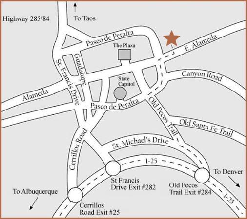 Inn on the Alameda: Map