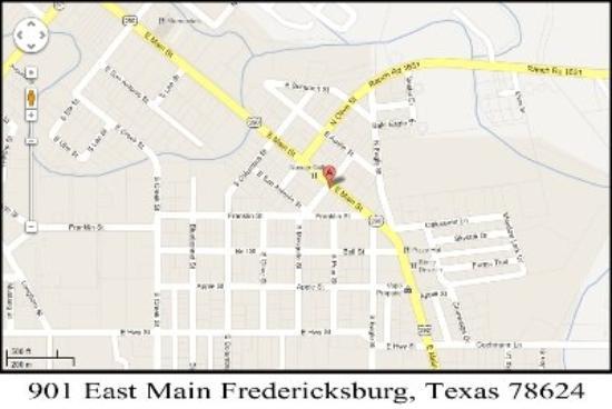 Budget Host Deluxe Inn Fredericksburg: Map