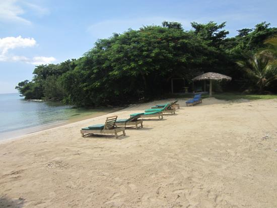 Half Moon Beach: Chairs calling your name on this private beach