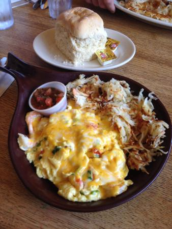 Buttercup Pantry: Shrimp Omelette and biscuit