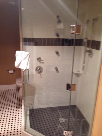 The Clarke Hotel: Palatial bathroom with body shower