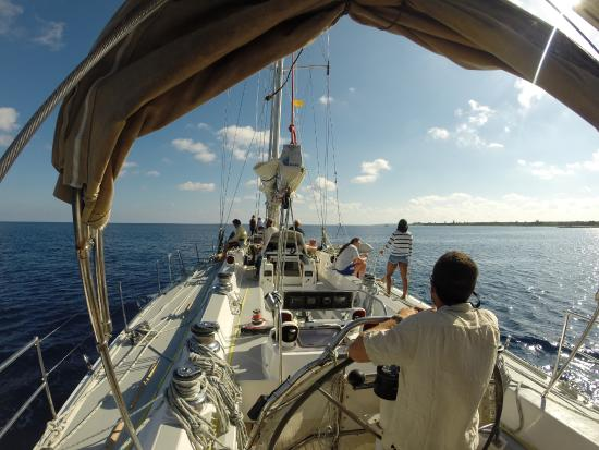 Pangaea Explorations: Cruising to a mooring, on another ridiculously beautiful day.
