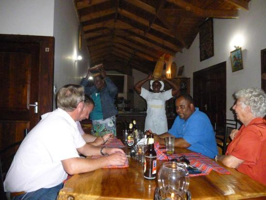 Christina House: Dinner in East African style