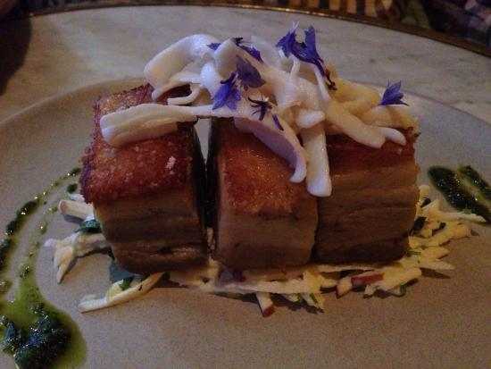 Apothecary 1878: Pork belly with pickled squid