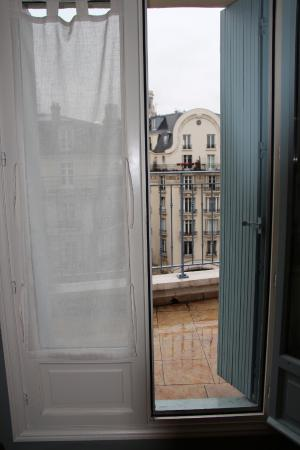 La Maison Saint Germain: View from a bedroom window/door out to balcony