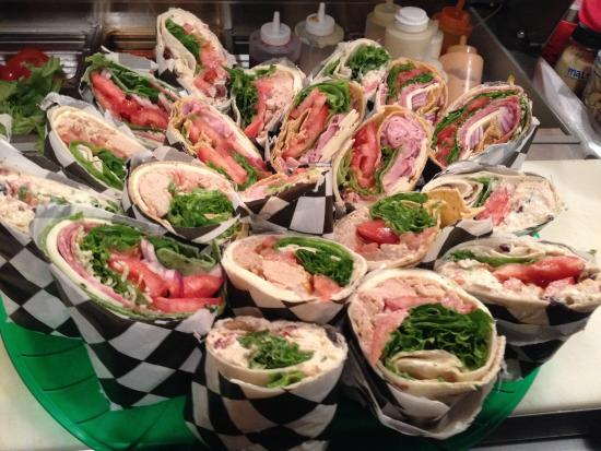 Lickity Split : A platter of delicious wraps!