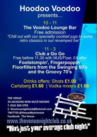 The Venue: The Voodoo Lounge Bar and Club A Go Go Back