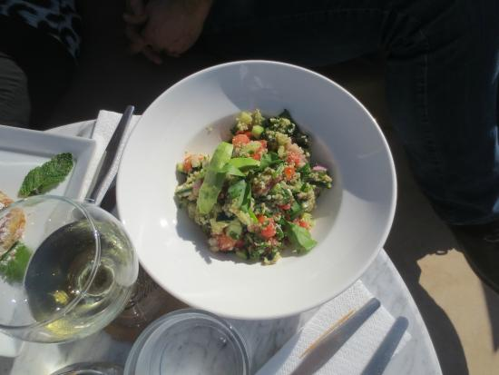 Mezzanine Fes : a sort of tabouli salad made with couscous - terrific