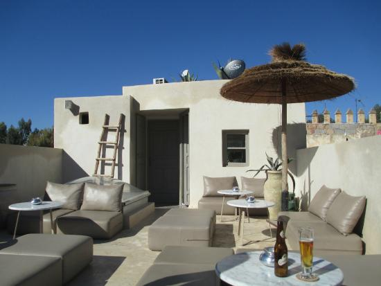 Mezzanine Fez: rooftop terrace - for a great break from the Medina and tagines