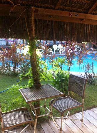 Maracuja Inn: vista da area livre do hotel