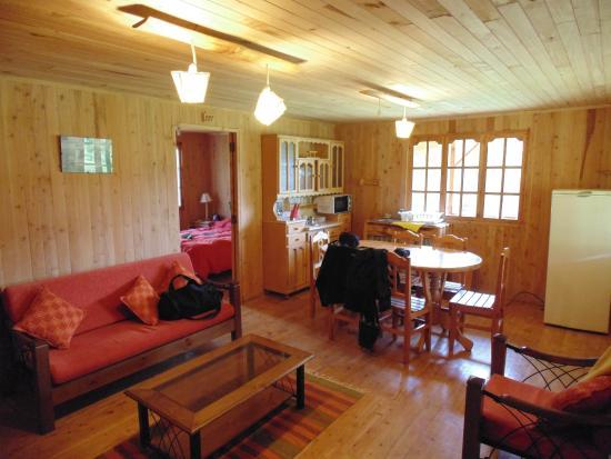 Albergue Dolce Vita: interior de la cabaña