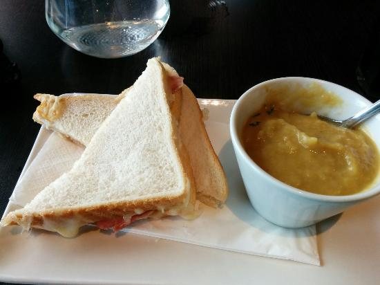 "Circo Restaurant: This is supposedly a ""toasted"" sandwich. I never knew they could be so pale and un-toasted. Mayb"