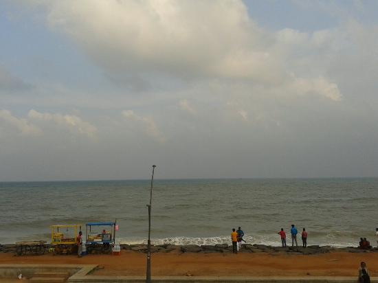 Ajantha Sea View : View from the Restaurant
