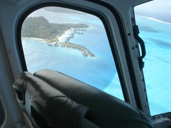 Tupitipiti Point : Vista do helicoptero. Sem fotoshop.