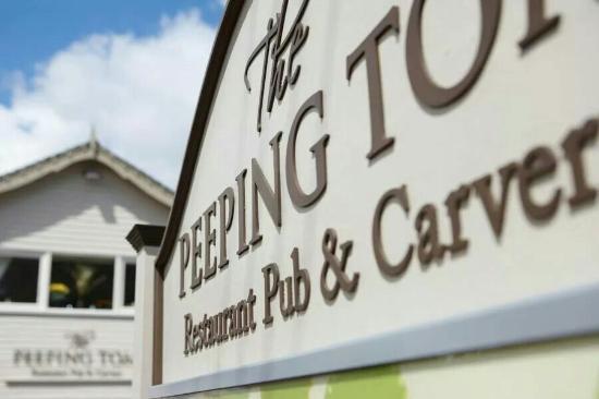 The Peeping Tom Pub: Front of pub