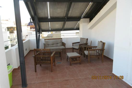 Hotel Rocamar: Roof terrace shaded area