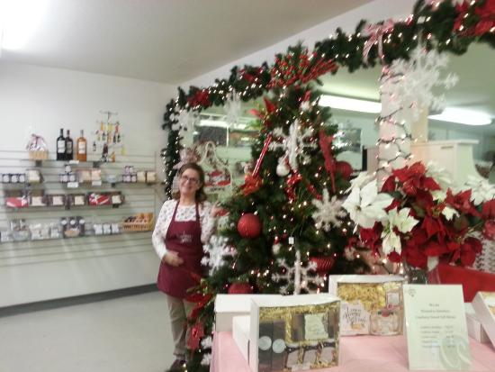 Cranberry Sweets: One of the many friendly members of the staff