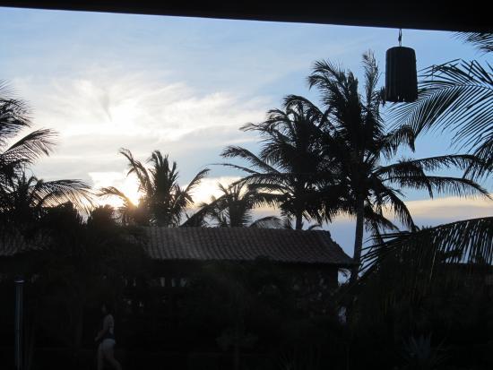 Eco Resort Vento Leste: Por do Sol da pousada
