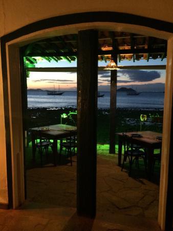 Restaurante Peixe Vivo : Por do sol um espetáculo à parte...