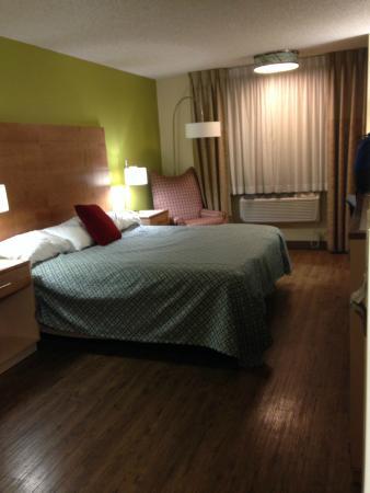 Super 8 Moab: 1st floor king room, no nasty carpet!