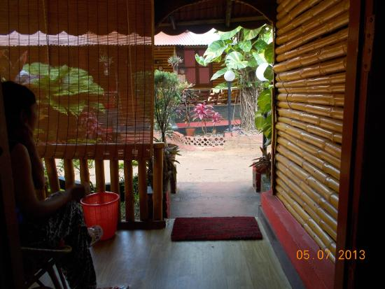 Kerala Bamboo House: view from inside the bamboo cottage