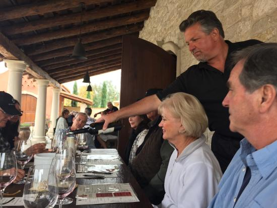 VJB Vineyards & Cellars: a great tasting and combination lunch reserved for us