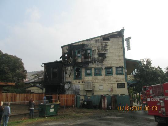 Hotel Jeffery : Fire damage