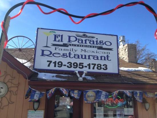 El Paraiso Family Mexican Restaurant: El Paraiso - signage