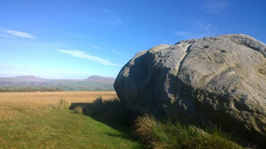 Yorkshire del nord, UK: The stone, set in open land.