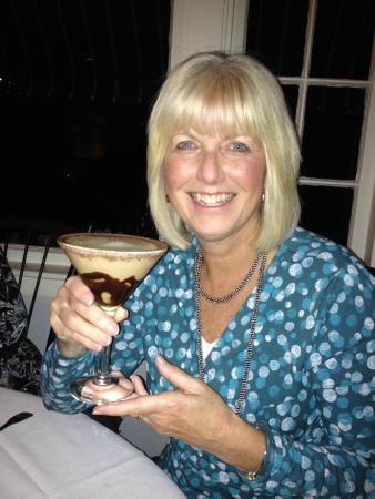 Cape Sea Grill: Stefanie Fredette shows off her Chocolate Martini.